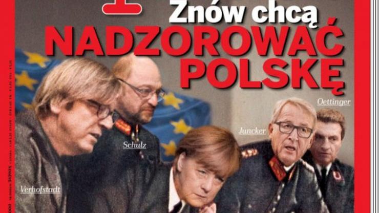 """""""Znów chcą nadzorować Polskę"""". Okładka """"Wprost"""" coraz szerzej komentowana w Europie"""