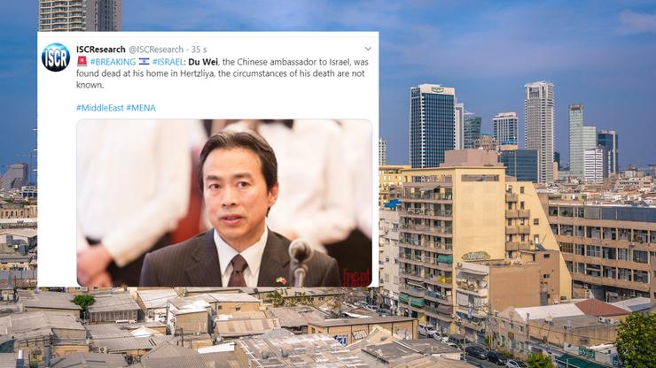 Nie żyje ambasador Chin w Izraelu