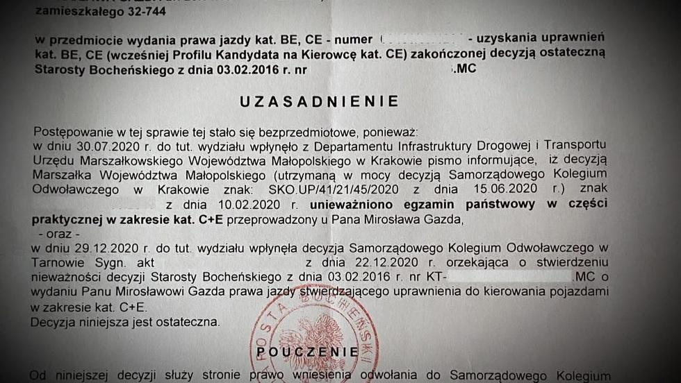 Interwencja - Zawodowi kierowcy z Małopolski z dnia na dzień tracili prawa jazdy