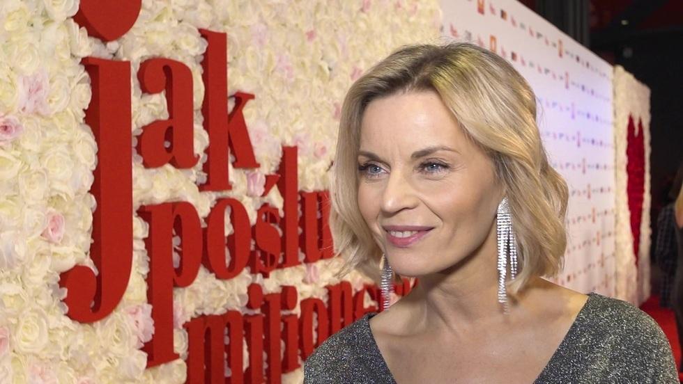 """Małgorzata Foremniak na premierze filmu """"Jak poślubić milionera"""""""